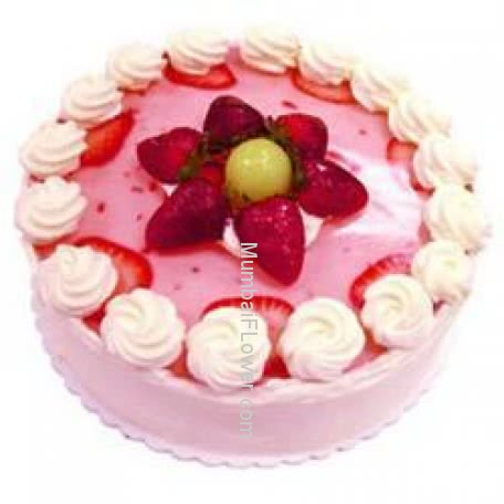 1 Kg. Egg Less Strawberry Cake