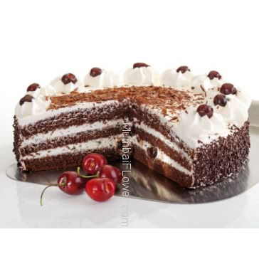 Yammmy 1 Kg. Black Forest Cake from 5 Star Bakery. send to your sweetheart for suitable occasion.   Please note: This item is not available in small cities / remote locations.