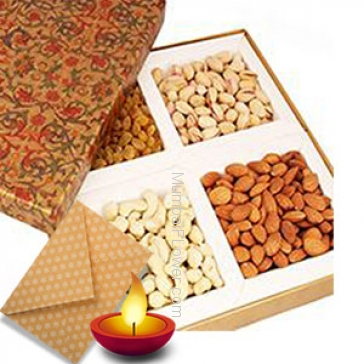 250 gms Mixed Dryfruits with 1pc Diwali Greeting Card