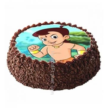 Half Kg. Delicious Chocolate Photo Cake... Order 24 hours in advance. Please note : Cake icing may differ from shown picture.
