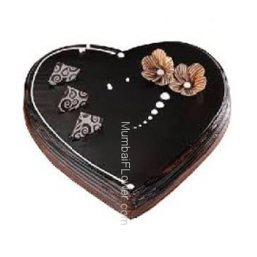 1 Kg. Heart Shape Premium Quality Chocolate Truffle Cake... Order 1 Day in advance. Please note : Cake icing may differ from shown picture.
