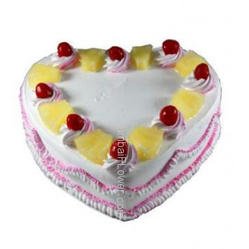 1 kg. Heart Shape Pineapple Cake Delicious and Yummy... Order 1 Day in advance. Please note : Cake icing may differ from shown picture.