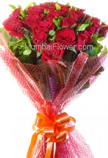 To show your ultimate love for someone with red roses, send the message of your heart to your loves heart with beautiful Bunch of 20 Red roses nicely decorated with fillers and Ribbons.