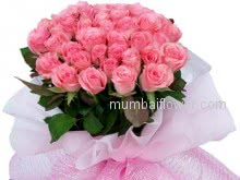 For a friend who know everything about you and still loves you give him/her this beautiful Bunch of 40 Pink Roses nicely decorated with Ribbons. and express your love to him/her.