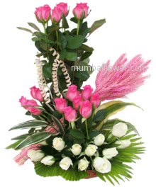 The most beautiful Arrangement of 20 Pink and 20 White Roses would be a great present!