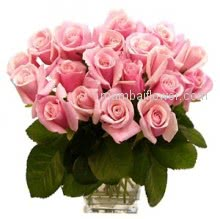 Glass Vase with 30 Pink Roses are as innocent as your love!