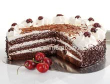 Beautiful Black Forest Cake to please your taste buds 2kg. Please Order 1 Day in advance.