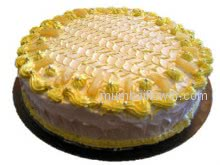 Awesome fresh Pineapple Cake 2 kg. Please Order 1 Day in advance.