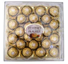 Bunch of 10 Red Roses and Ferrero Rocher Chocolate 300 gms ( 24pcs )