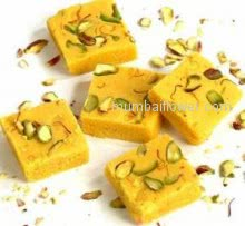 Delicious Kesar Barfi Mithai 1Kg. specially for Diwali.