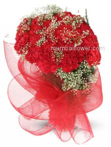 Propose yoour love for marriage with this romantic Bunch of 20 Red Carnations for Valentines Day.