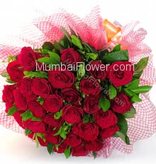 Bunch of 30 Red Roses are so romantic for your Love, Romance and will convey real happiness to your loved ones.