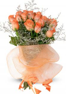 Bunch of 20 Valentine Orange Roses for your love