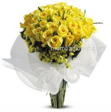 Love always start from friendship so give this flowers to your love, Bunch of 30 Friendship Yellow Roses