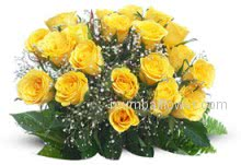 Friendship Bunch of 24 yellow Roses for your best friend.