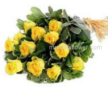 Bunch of 10 Yellow Roses for whom brings joy to your life! your best friend!