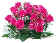 Pink is sound of heart give Bunch of 20 Pink Roses nicely decorated with Ribbons to your lovable.