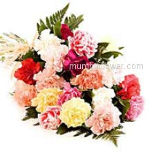 Bunch of 20 Mixed Carnation for any occasion make colorful to your close ones.