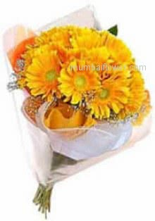 To spread the Happiness and energy to your friend Bunch of 15 Yellow Gerberas