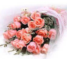 Bunch of 20 Pink Roses for your loving innocent daughter or your most feminine love