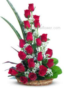 No words can describe the message of your love for that mumbai flowers arranged an Arrangement of 30 Red Roses with fillers and greens to propose someone.