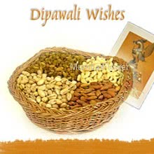 Hamper includes pack of 2kg mixed dryfruits with Diwali greeting card.