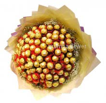 Bunch of 36pc Ferroro Rocher Chocolate nicely decorated with ribbons
