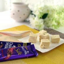 Diwali Combo of 500 gms of Soanpapdi with 2pc Cadbury Bar Chcolates with 1pc Diwali Greeting Card