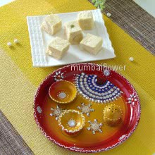 Premium Pooja Thali with Haldiram Soanpapdi 250gms for this festive season