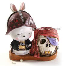 Beautiful Cute little Pirate with skull. Delivered with personalised Message Card. <br><br> Size: 18cm x 16cm x 08cm approximately.