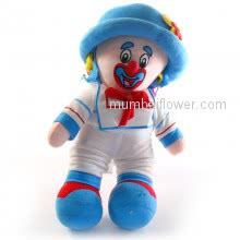 Good Quality Gift Clown Joker soft toys for your loved ones. with personalised Message Card <br><br> Size: 32cm height approximately.