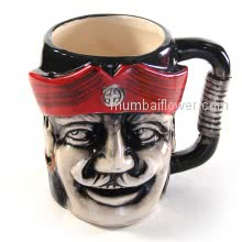 Good Quality Ceramic Pirate Mug for Tea or coffee, can be used as showpiece <br><br> Size: 8cm x 8cm x 10cm approximately.