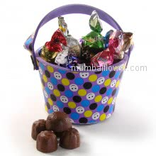 Bucket of Chocolates , Small Smiley Bucket filled with premium chocolates 20pc chocolates inside