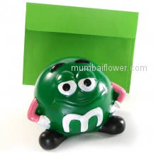 Green Smiley small gift with personalised message card. <br><br> Size: 9cm x 9cm x 12cm approximately.