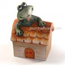 Cute Little Frog House Money Bank Gift for your loved ones  <br><br> Size: 13cm x 09cm x 08cm approximately.