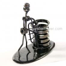 Office Pen Holder Gift Music Playing Figure made with Metal Nuts <br><br> Size: 12cm x 12cm x 07cm approximately.