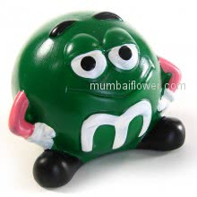 Green Smiley small money bank gift with personalised message card.<br><br> Size: 9cm x 9cm x 12cm approximately.
