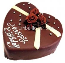 2 Kg. Delicious Heart Shape Chocolate Cake. Please order 1-2 Days in advance.