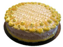 Fresh Pineapple Cake! enough to make your occasion awesome- Half Kg.