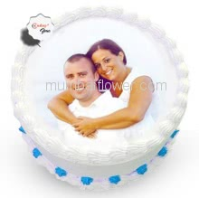 1 Kg. Vanila Photo Cake....Please order 1-2 Days in advance.
