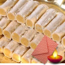 1 Kg. Kaju Roll Mithai wiht 1pc Diwali Greeting Card
