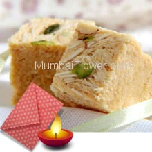 Diwali Combo of 250 gms Soan Papdi and 1pc Diwali Greeting Card