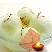Pack of Bengali 1Kg. Rosogulla with 1pc Diwali Greeting Card