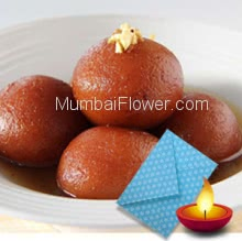 1 Kg. Gulab Jamun with 1pc Diwali Greeting Card