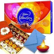 Diwali Combo 1pc Big Cadbury Celebration Box with Half Kg. Mixed Mithai
