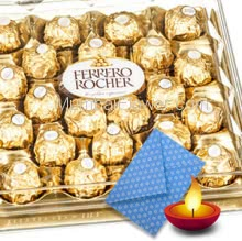 Box of 24pc Ferrero Rocher and 1pc Diwali Greeting Card