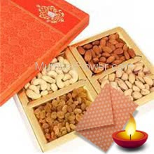 Half Kg. Mixed Dryfruits with 1pc Diwali Greeting Card