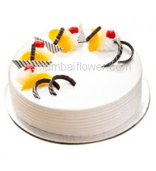 1 Kg. Mango Vanilla Cake is season and full of taste. Available only in Mango season... Order 24 hours in advance. Please note : Cake icing may differ from shown picture.
