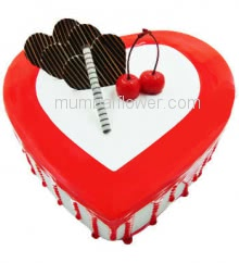1 Kg. Premium Quality Heart Shape Anniversary Cake, best quality and flavour... Order 1 Day in advance. Please note : Cake icing may differ from shown picture.