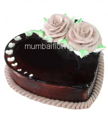 1 Kg. Premium Quality Anniversary Chocolate Fusion Cake, best in taste and flavour... Order 1 Day in advance. Please note : Cake icing may differ from shown picture.